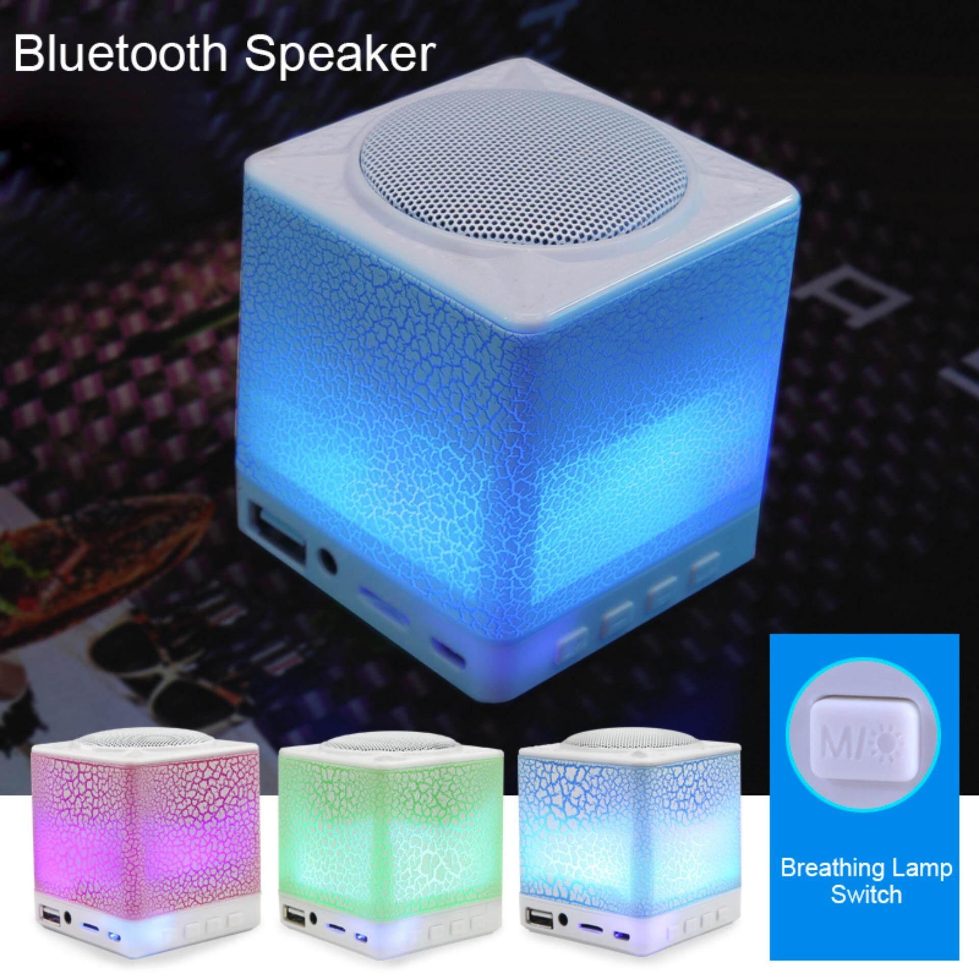 Kotak Pandora Portable Mini Wirelss Lampu Speaker Bluetooth Stereo HD Kotak Suara Musik Ultralight USB Input untuk Ponsel dengan 3.5 Mm Kabel Audio Telepon Speaker Shower Mobil home Outdoor Musik Interior Cahaya Lampu Hias