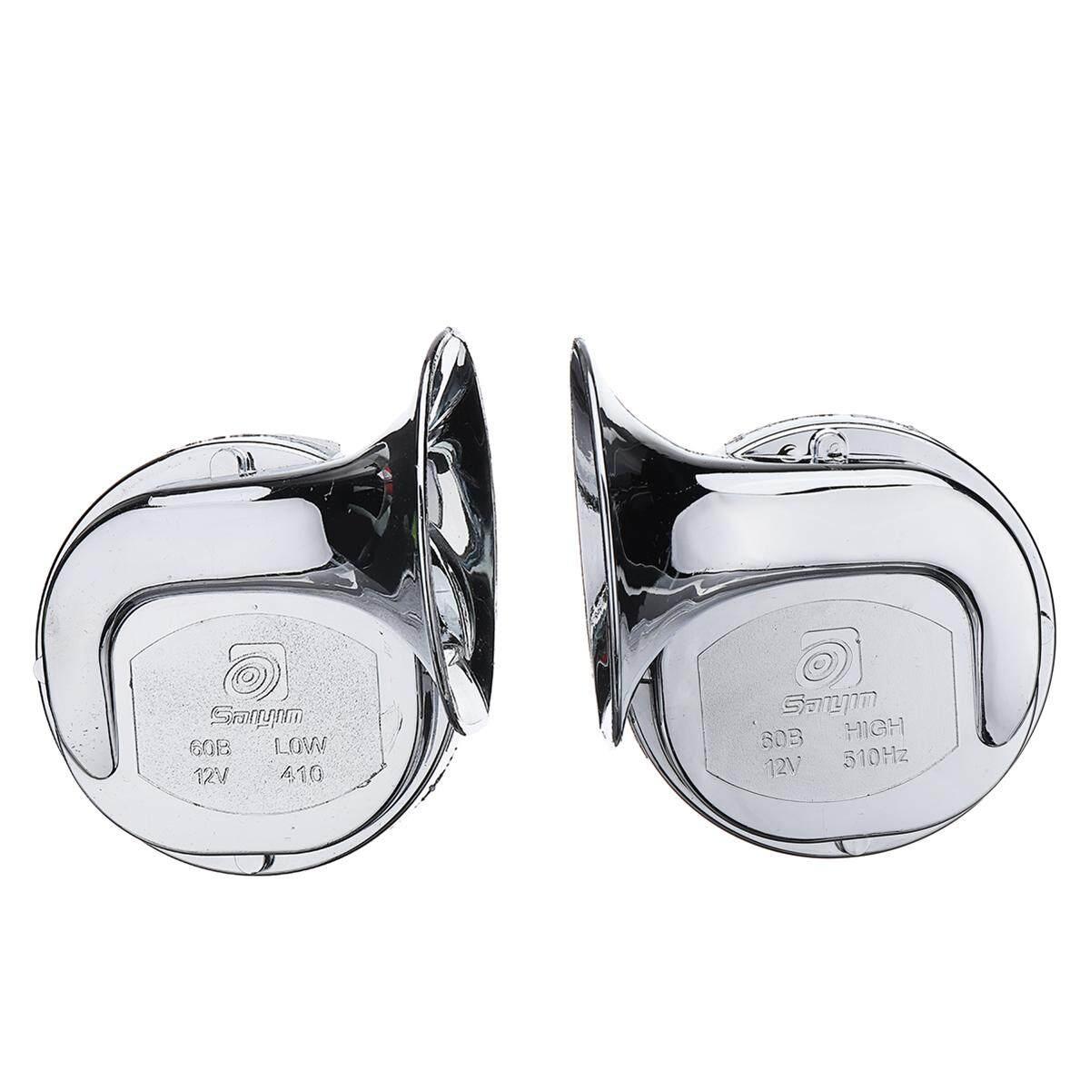 Pasangan Baru Design12v 110Db Universal Suara Keras Chrome Dual Tone Air Klakson Keong untuk Mobil Van Sepeda Motor