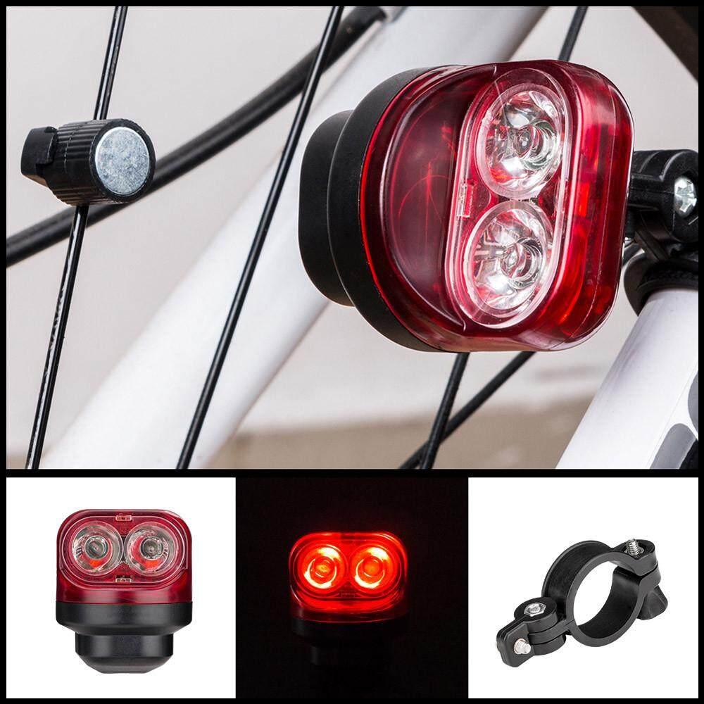 Matatatshop Bicycle Light Self-Powered Magnetic Cycling Bike Tail Waterproof Rear Warning