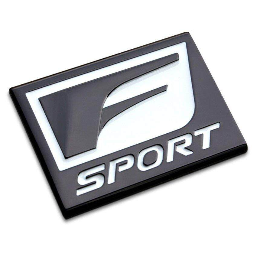Rainbow leadingtrust F Sport Car Logo Stickers 3D Metal Emblem Refitting BadgeSticker Car Styling Auto Decoration accessories For Lexus - intl