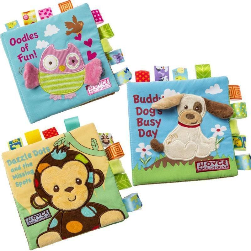 G-gourd Online 3PCS Newborn Baby Soft Eerly Early Development Activity Cloth Books