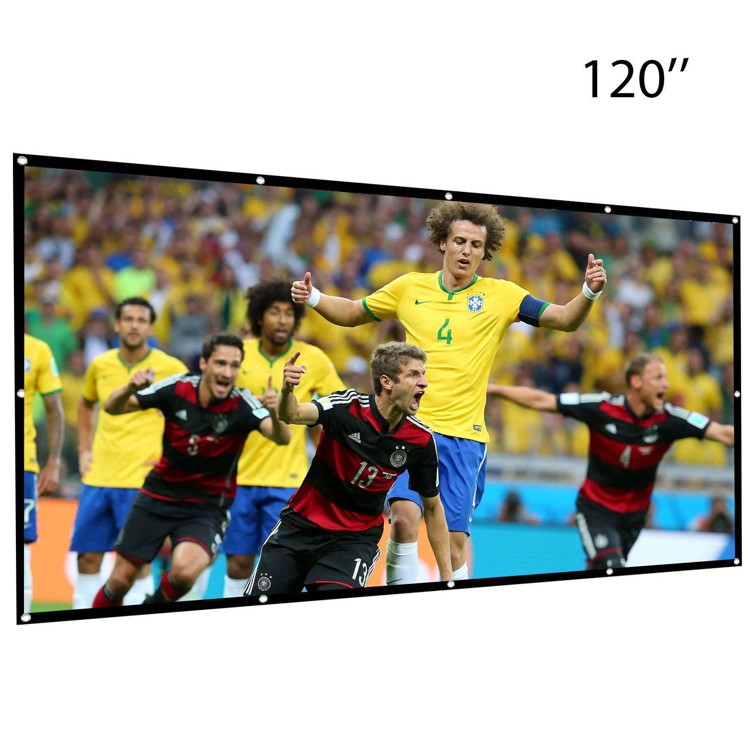 Projector Screen 16:9 Foldable Anti-crease Portable,Double Sided Projection 120/""