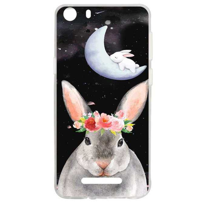 Hot Flower Rabbit TPU Soft Silicon Phone Case Cover For Wiko Lenny 2 - intl