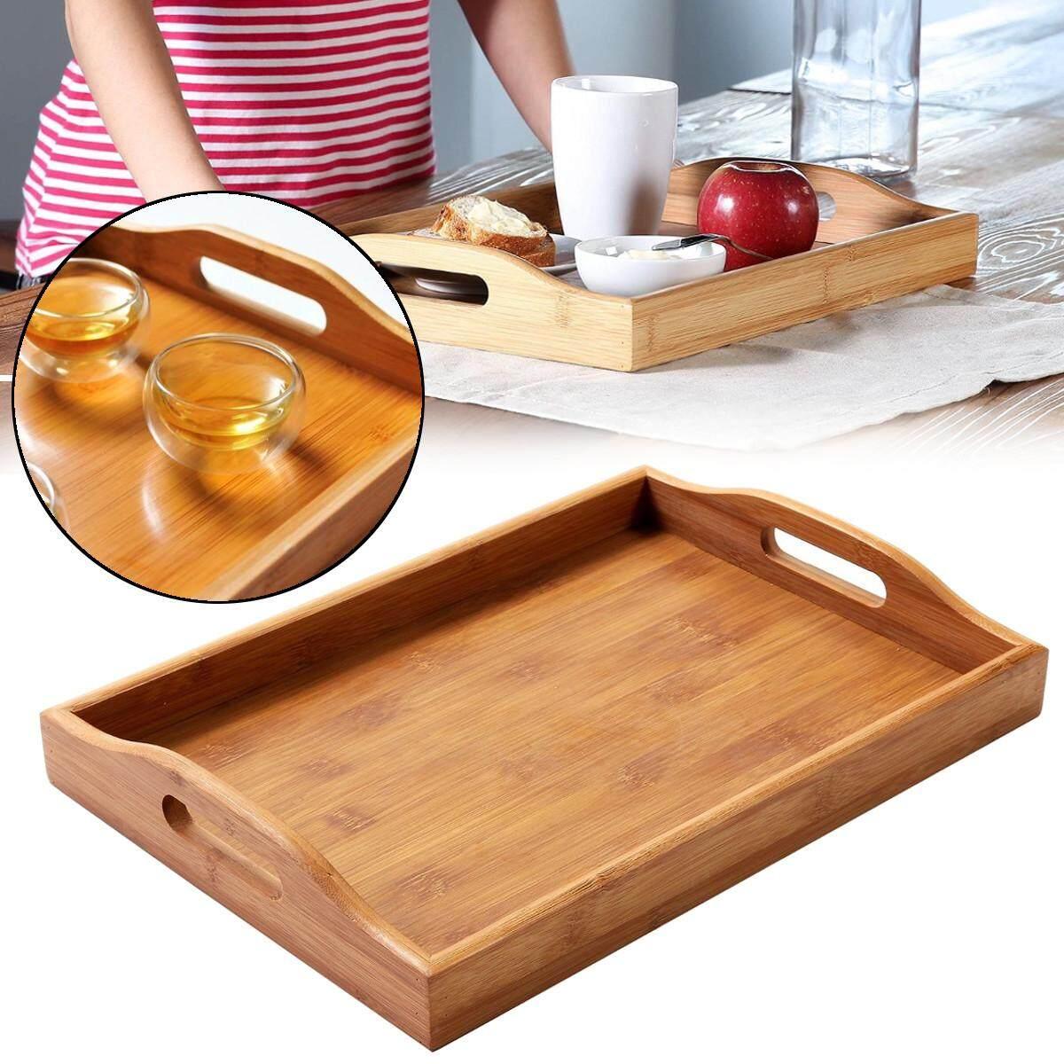 18cm Round Wooden Serving Tray for Fruit Tea Breakfast Wood Kitchen Platter