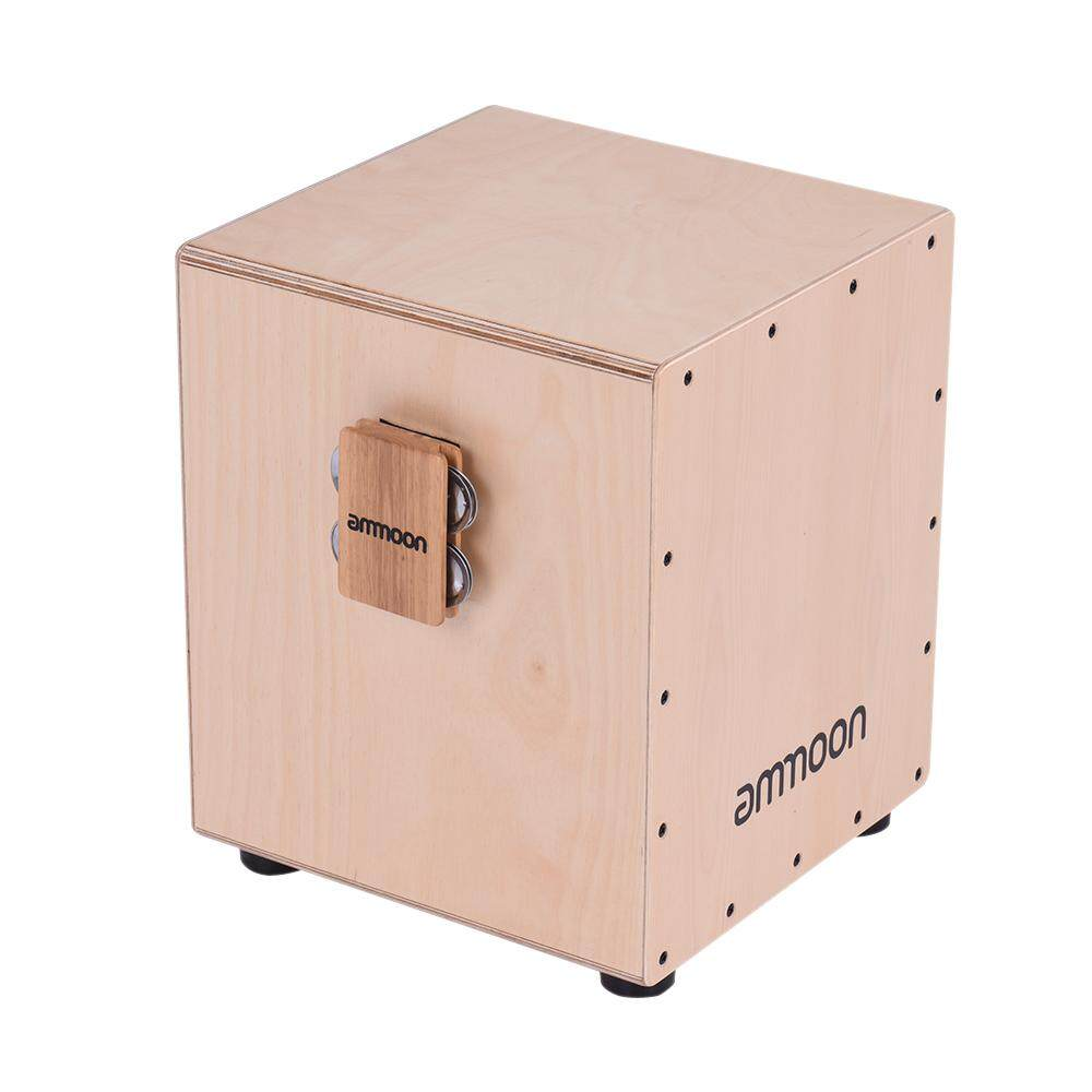Cajon Box Drum Companion Accessory 4-bell Jingle Castanet for Hand Percussion Instruments (Neutral) - intl