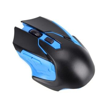 Fashion Optical 3200DPI Wireless Gaming Mouse Professional USB Receiver Gamer Mouse Mice Blue 12cm*8cm*3cm