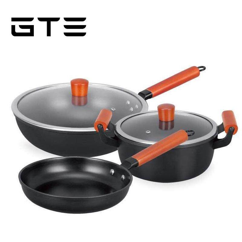 GTE 5pcs Non-stick Cookware Kit Tool Stockpot Fry Set Refined Pan Pot Wok (CW-7120) - Fulfilled by GTE SHOP