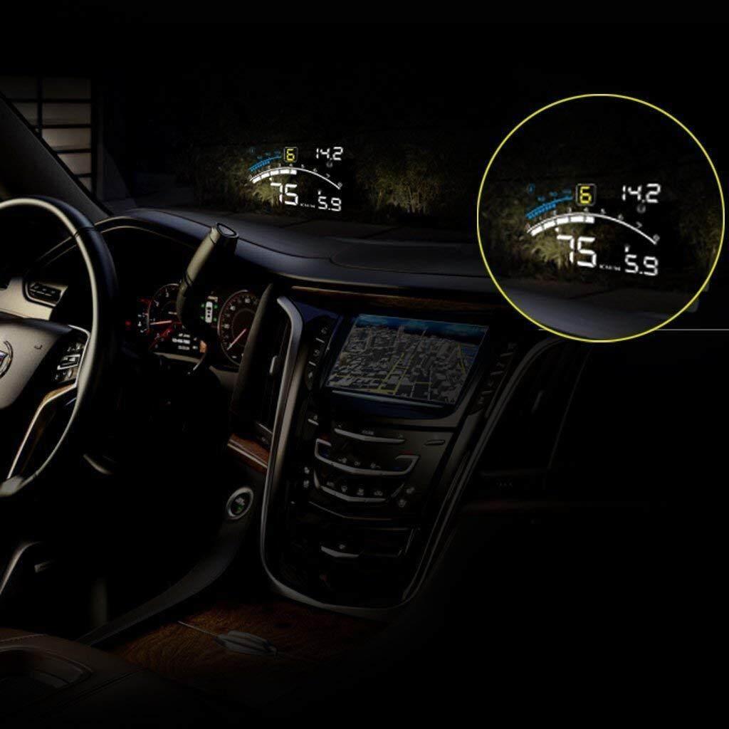 F4 HUD Display 5.5/'/' Data Diagnosis OBD2 EUOBD Digital Speedometer Car Head-up