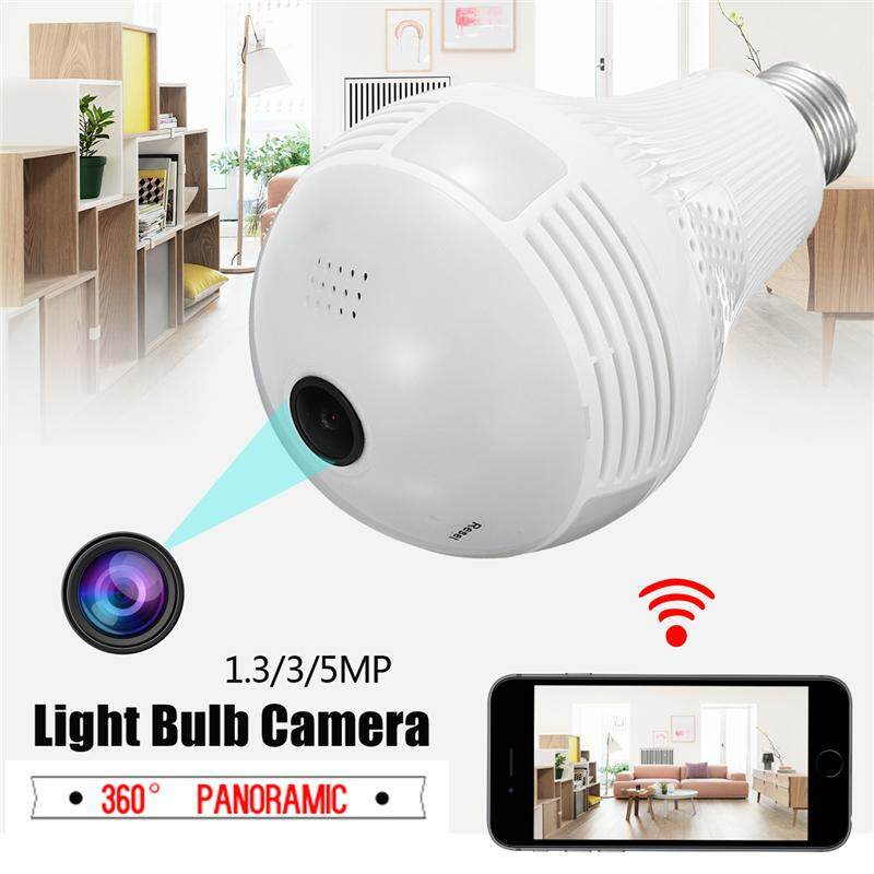 Wireless Panoramic Monitoring Camera VR 360 Degree Panoramic Home Security CCTV 2.4G WiFi Light Bulb Camera 5MP - intl