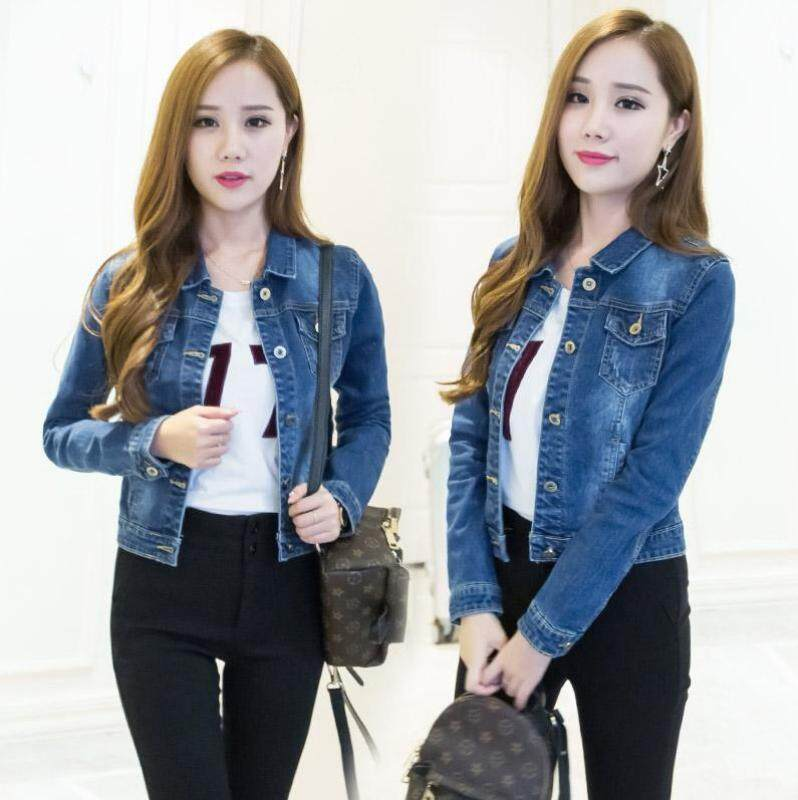 1c825e9afc7c7 Long Sleeve Denim Jackets Short Denim Jackets Button Jackets