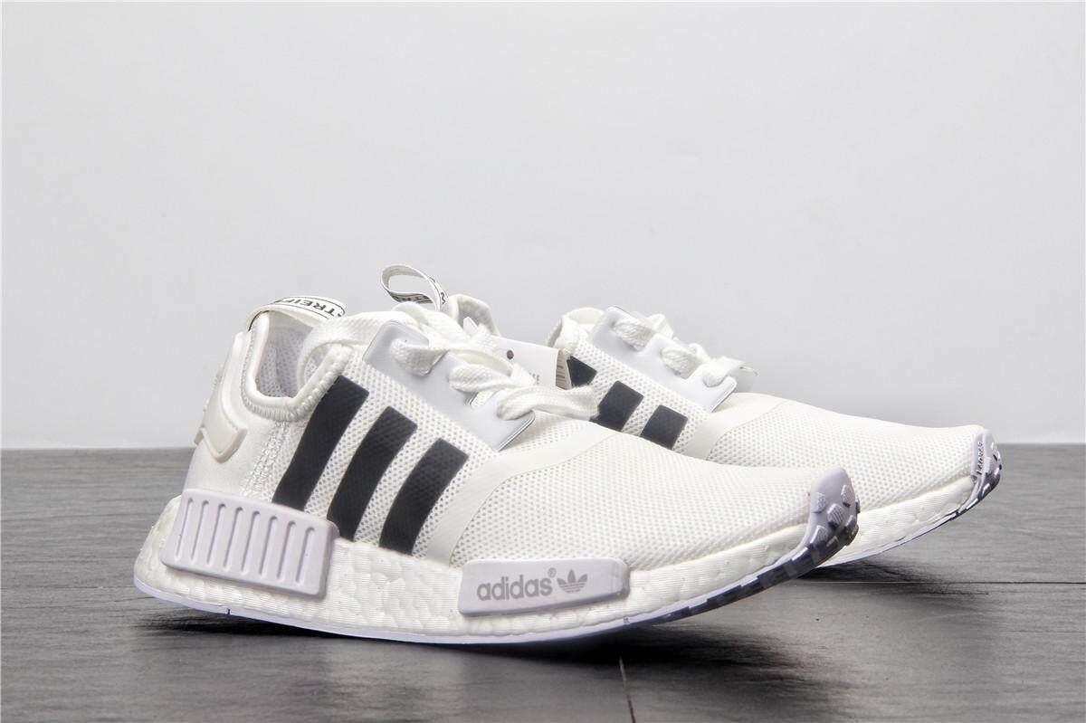 ยี่ห้อไหนดี  สุราษฎร์ธานี Adidas NMD Boost Men s Breathable Running รองเท้าผ้าใบแฟชั่น (สีขาว/สีดำ)