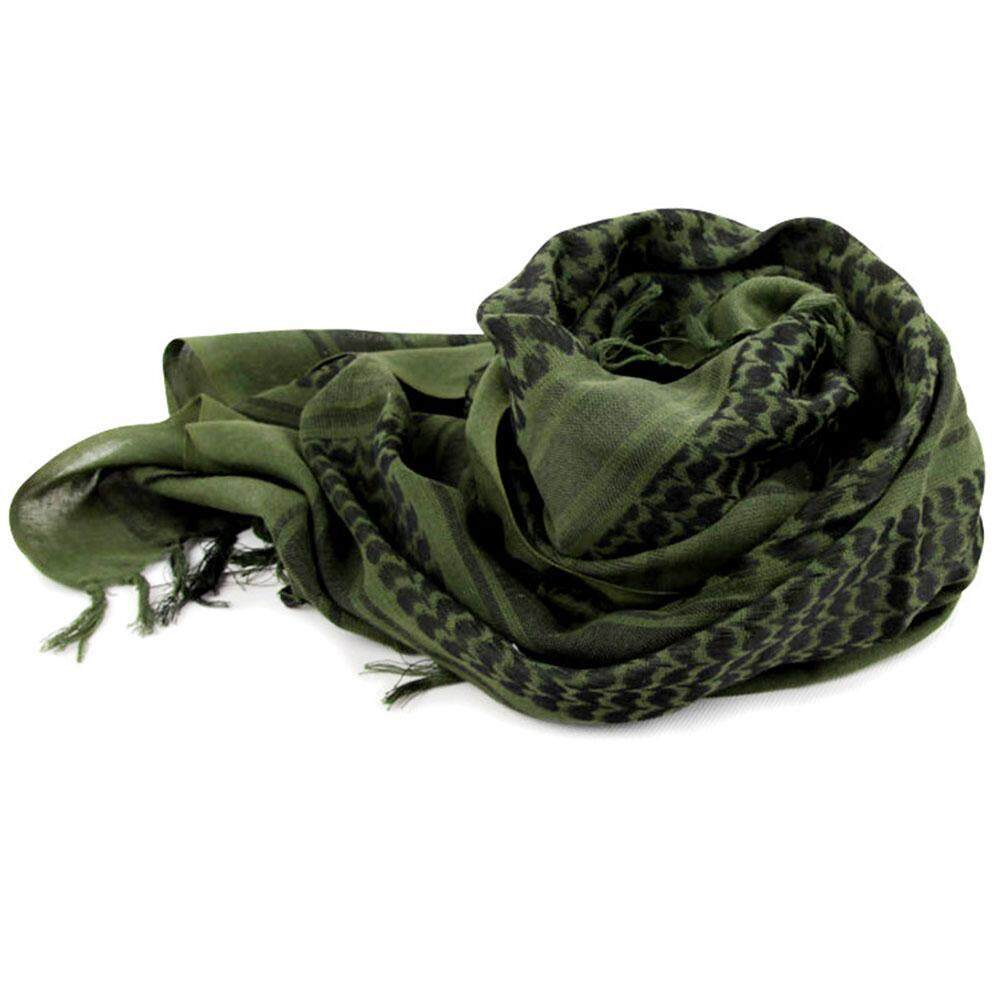 GoodScool Military Shemagh Tactical Desert 100% Cotton Keffiyeh Scarf Wrap ,Outdoor Tactical Scarf / Arab Kerchief, Warm Winter Scarf