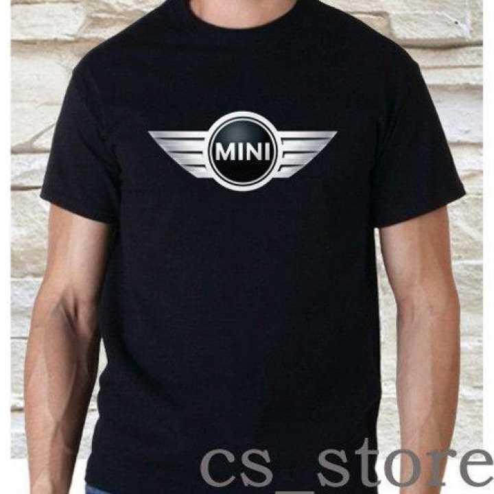 Mini Cooper Cars Logo Cotton Man Tee Round T Shirts Men Short
