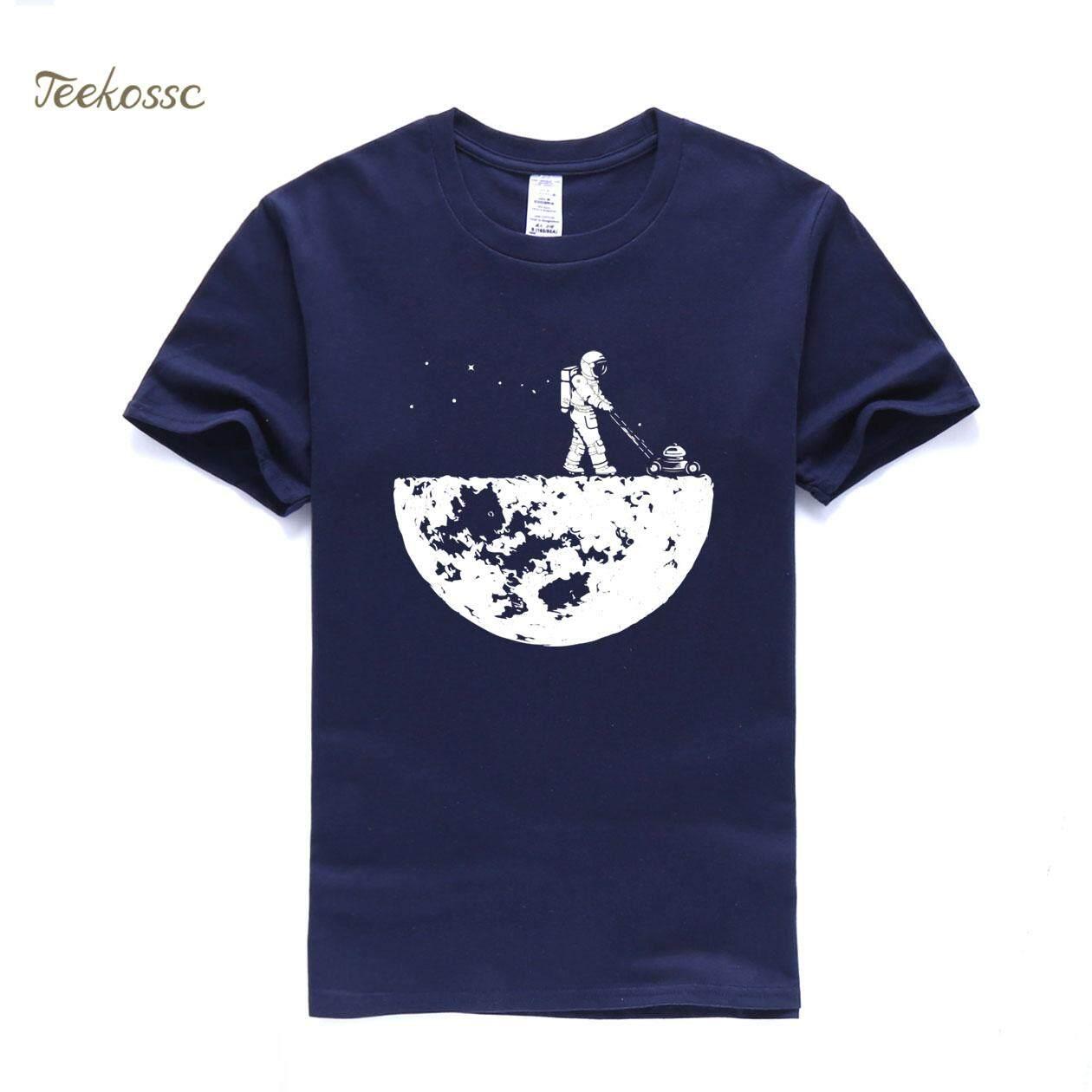 f043a536b76bd Develop The Moon T-Shirt Men 2019 Fashion Summer Tops Tee Cotton Tshirt  Short Sleeve Camiseta Slim Fit Streetwear Black T Shirt
