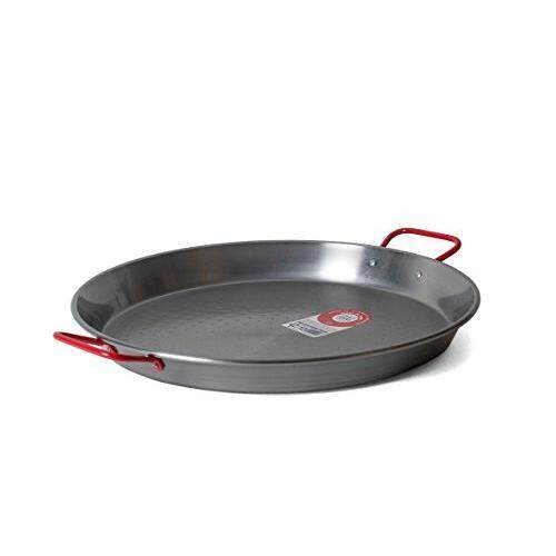 Garcima 15-Inch Carbon Steel Paella Pan, 38cm, Silver, Medium