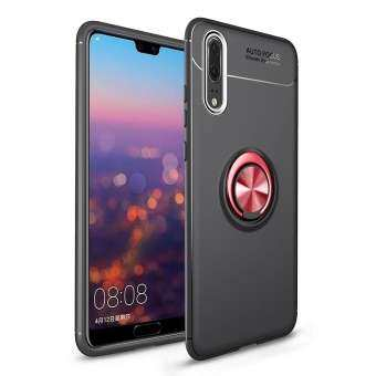 Lucky-G For HUAWEI P20 Pro Soft Silica Gel Full Protection Phone Case with Rotatable Metal Ring Bracket Style:HUAWEI P20 pro-
