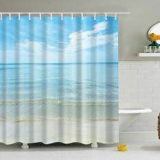 ABH Seaside Scenery Digital Printing Shower Curtain (Size M:165X180CM) – intl