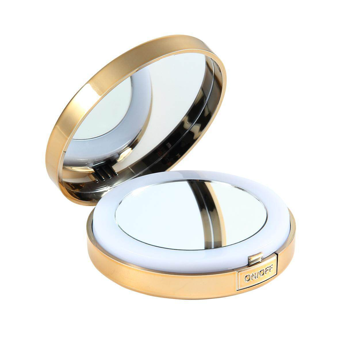 Small Lighted Makeup Mirror.Goodgreat Led Lighted Travel Makeup Mirror Small Handheld Mirror 1x 10x Magnifying Mirror Portable Travel Makeup Mirror Lighted Magnified Mirror