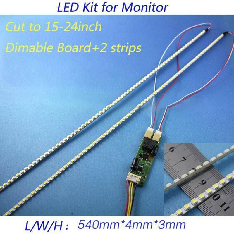 DLong Đa Năng ĐÈN Nền LED Đèn Cập Nhật Bộ cho MÀN HÌNH LCD 2 Dải ĐÈN LED Hỗ Trợ 24 ''540 mét
