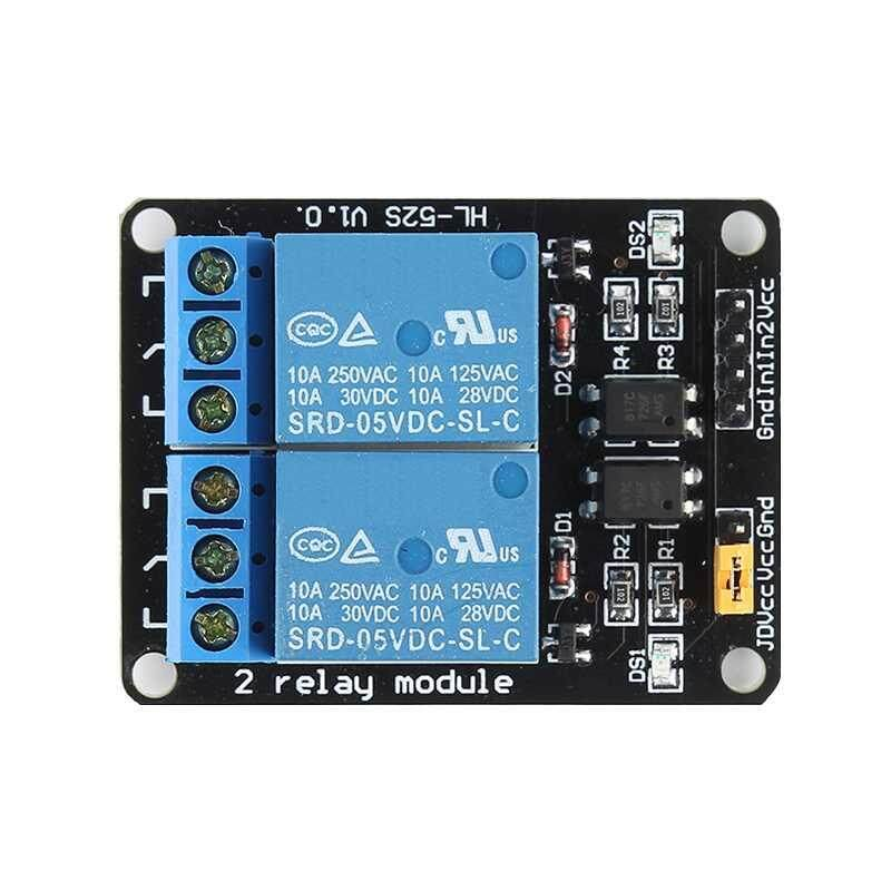 ZLOYI For Arduino PiC ARM AVR 2 Channel Relay Board Module Optocoupler LED - intl