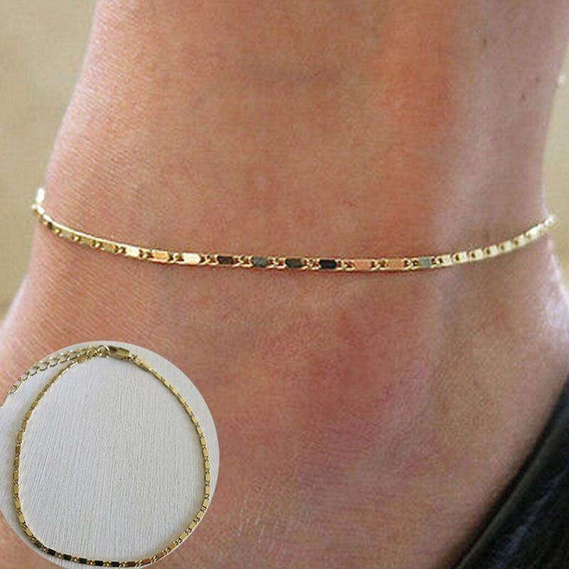 Simple Gold Chain Anklet Ankle Bracelet Barefoot Sandal Beach FootJewelry JH - intl