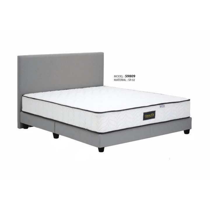 Solano smart furniture 6 divan queen size serene fabric for Queen size divan