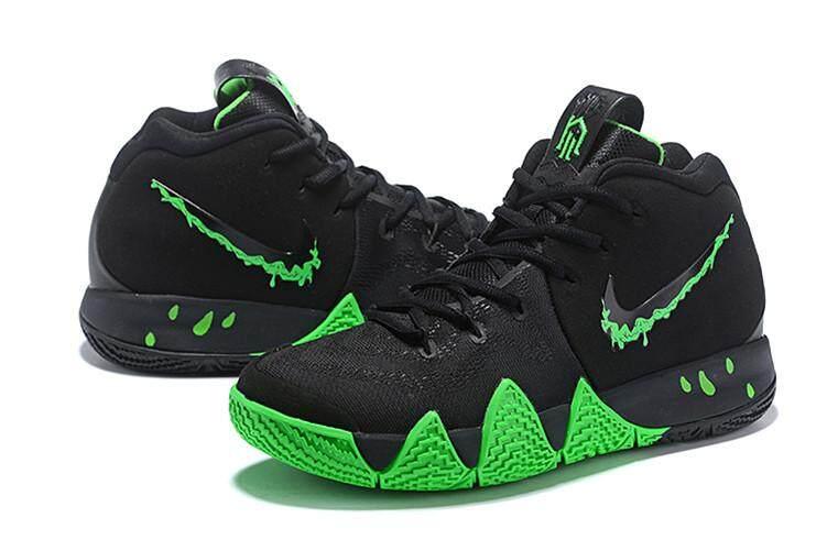 premium selection 0949c e96a3 Brand_Nik Official Kyrie Irving 4 Discounted MEN Basketaball Shoe Black  Green