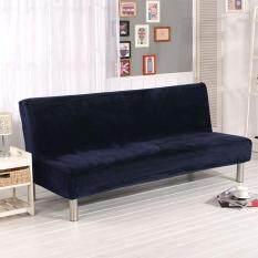 MG [Miễn Phí Vận Chuyển] Sang Trọng Chất Liệu Vải Gấp Gọn Armless Sofa Giường Bao Ghế Bọc Dày Hơn Có Cuốn Ghế Bảo Vệ