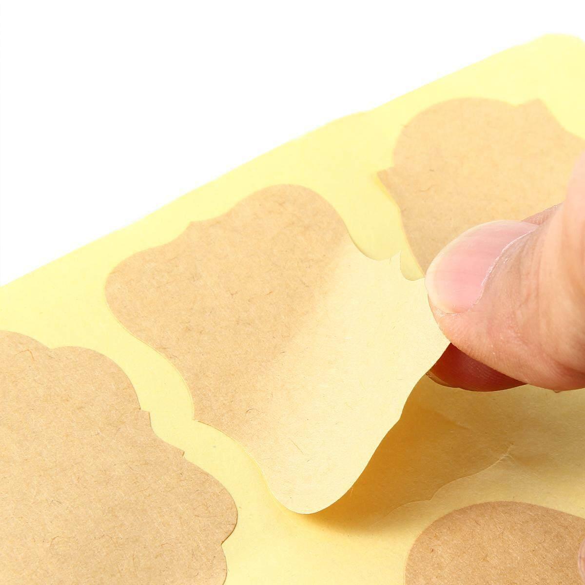 4a35df0b11d6 72Pcs Fancy Shape Kraft Paper Essential Oil Bottle Stickers Labels  Chalkboard Stickers Food Jars Labels