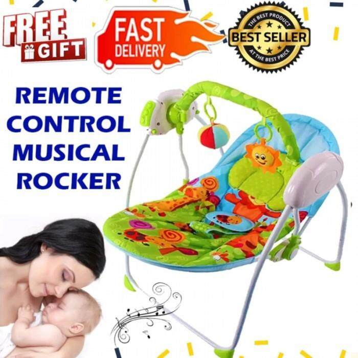 Auto Baby Swing Rocker Musical Baby with Timer, 3 Different Speed Swing comes with Pillow, Net, Remote control New Born Electric Cradle Baby Bouncer