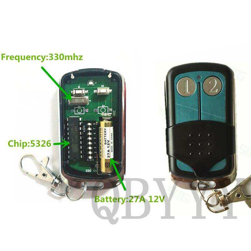 1PCS High Quality 5326 330mhz Autogate Replacement Dip Switch Remote Control Keyfob for Singapore Malaysia - intl