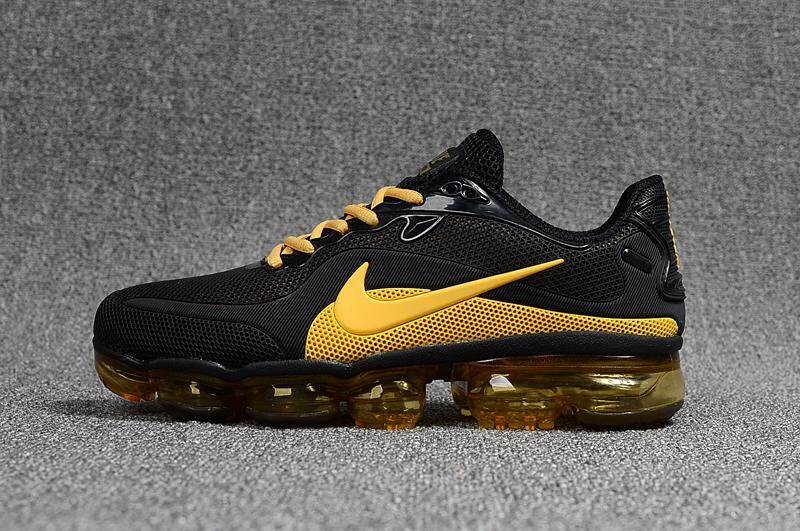 2018 Nike Air VaporMax Men s Fashion Light Sport Sneakers Running Shoes  (Black Golden) ca2c5e183b