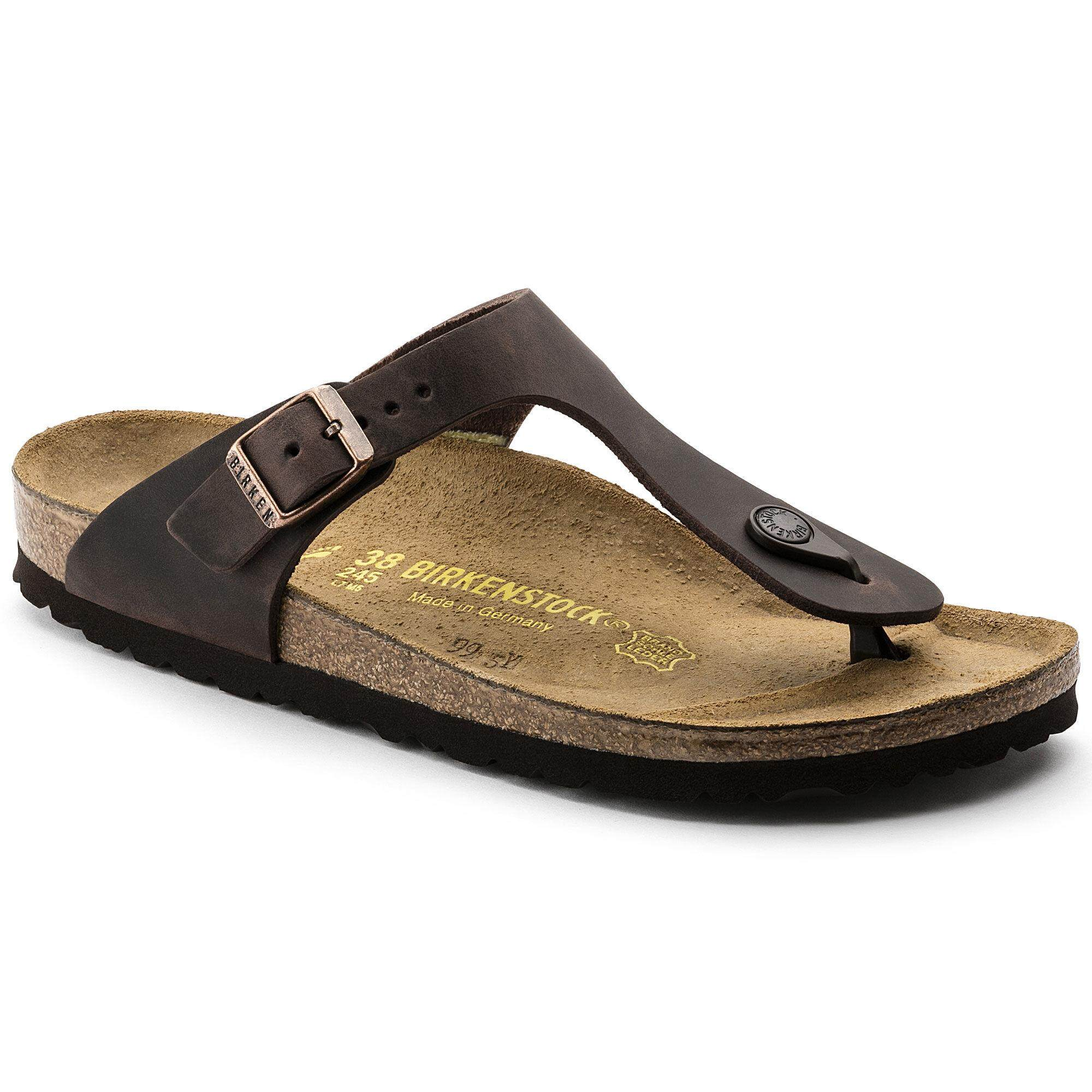 2ef1140c9 Comfortable Birkenstock Women Sandals Women Thong Gizeh Oiled Leather Habana