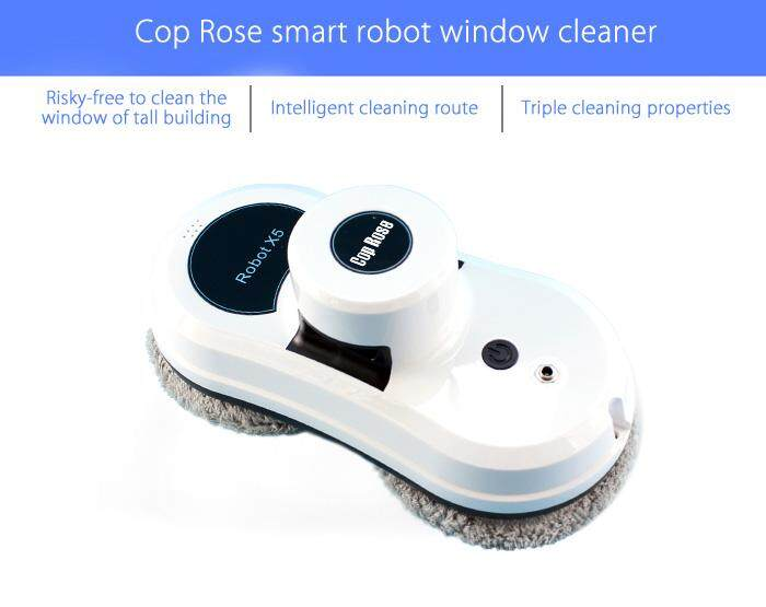 Cop Rose X5 Smart Window Cleaning Robot Cleaner Glass Clean Machine Remote Control#EU Plug