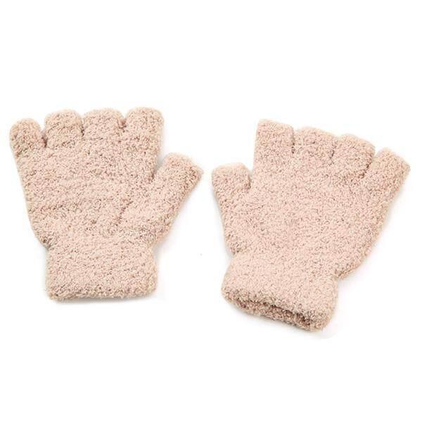 Găng tay phiên bản Hàn Quốc của ấm dày nam nữ mùa thu và mùa đông ngắn nỉ mặc găng tay Bộ Găng Tay Nửa Ngón
