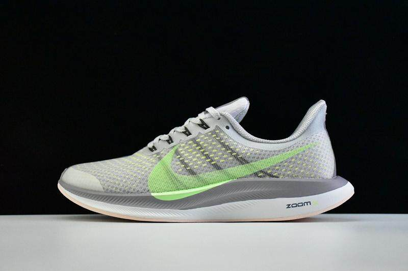 Nike Zoom Pegasus Turbo Men's Women's Running Shoe Fashion Sport Sneakers (Grey/Green)