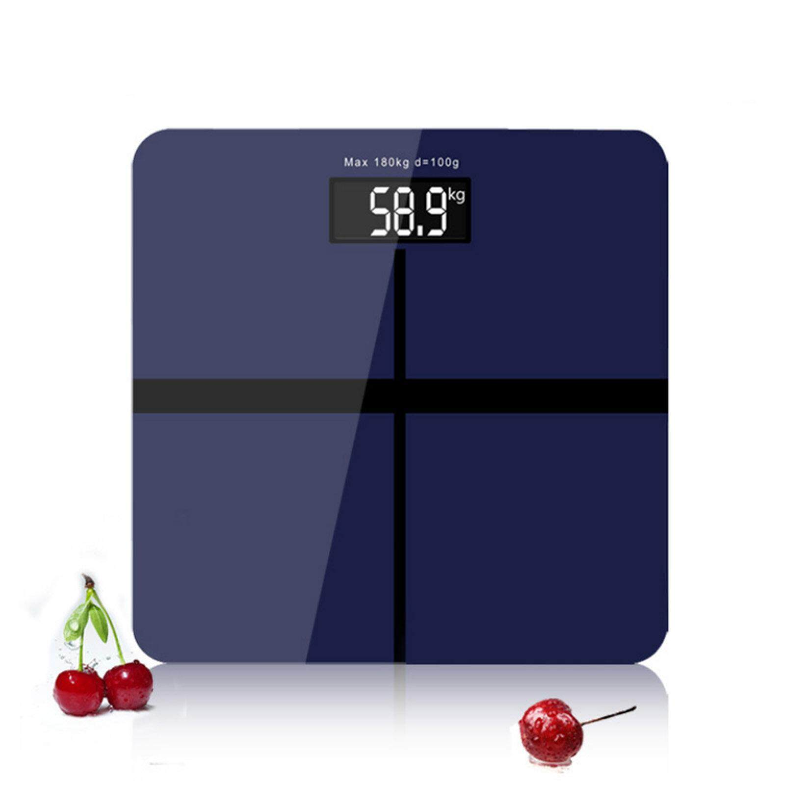NaVa Precision 28cm*28cm Weight Scale Digital Body Measuring Scale (NAVY BLUE)