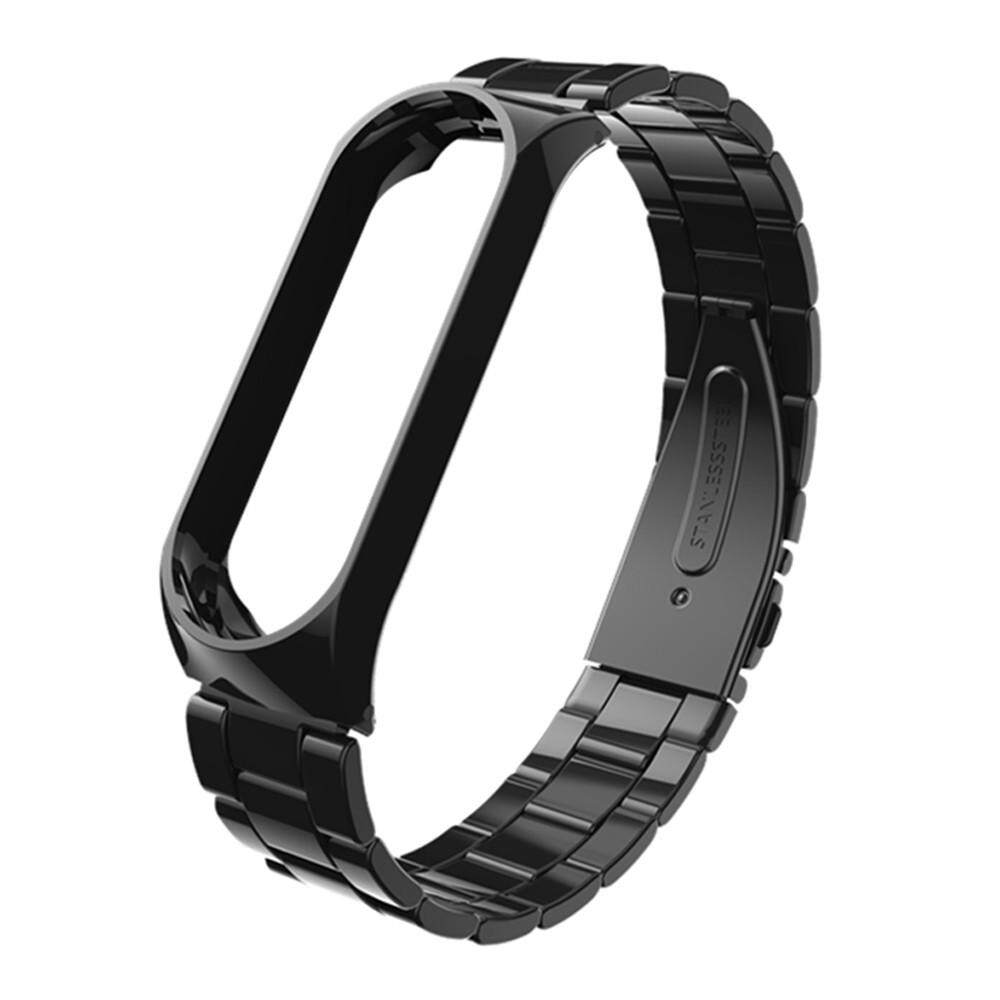 Qyshop Luxury Stainless Steel Bracelet Watch Band Strap For XiaoMi Mi Band 3 BK