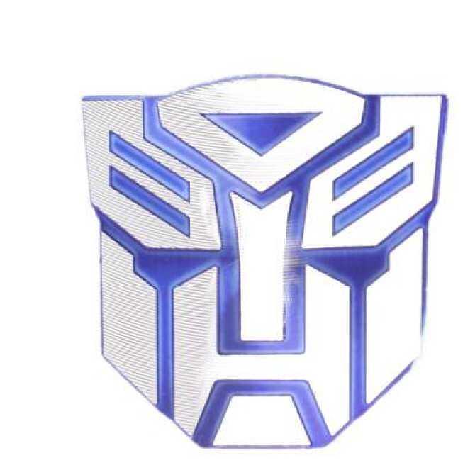 Hình ảnh Transformers Autobot Car Decorative Chrome Badge Emblem(Blue)