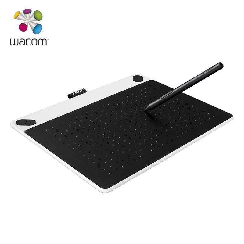 GoldMax Wacom Intuos Draw CTL 690/W0 Medium Digital Graphics Tablet 2048 Pressure Level Wacom CTL-690 (White) [Buy 1 Get 10 Pieces Black Tip]