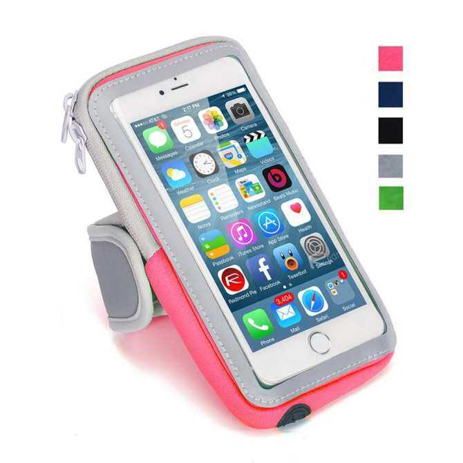 Multifungsi Ban Lengan Olahraga Luar Ruangan Kasual Paket Lengan Tas Ponsel Gantungan Kunci Tas untuk Iphone7Plus