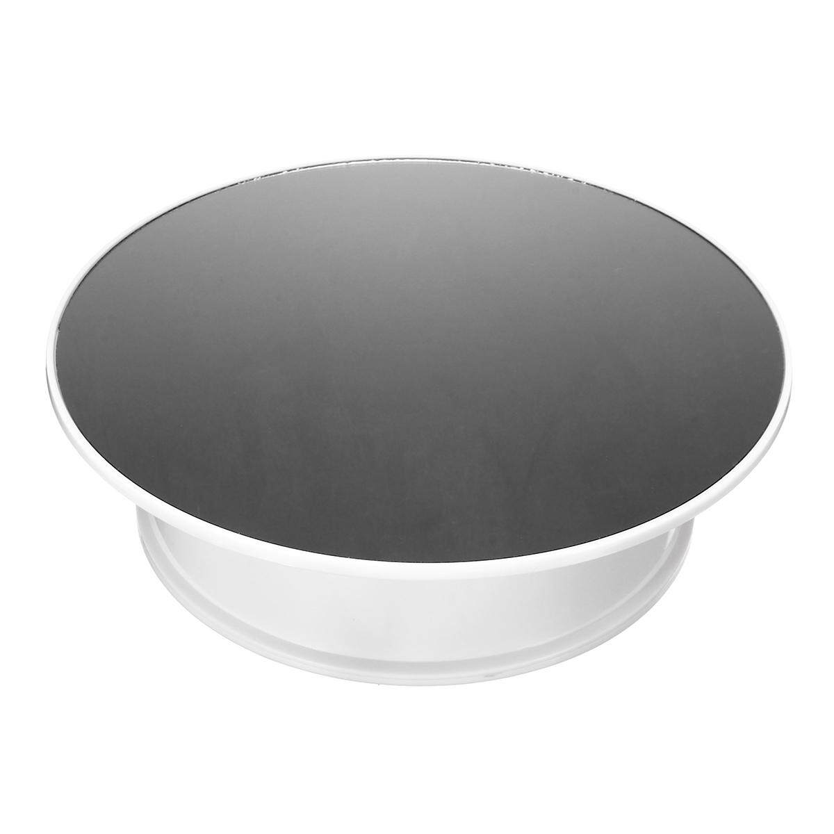 Round Velvet Top Electric Motorized 360° Rotating Display Stand Turntable White