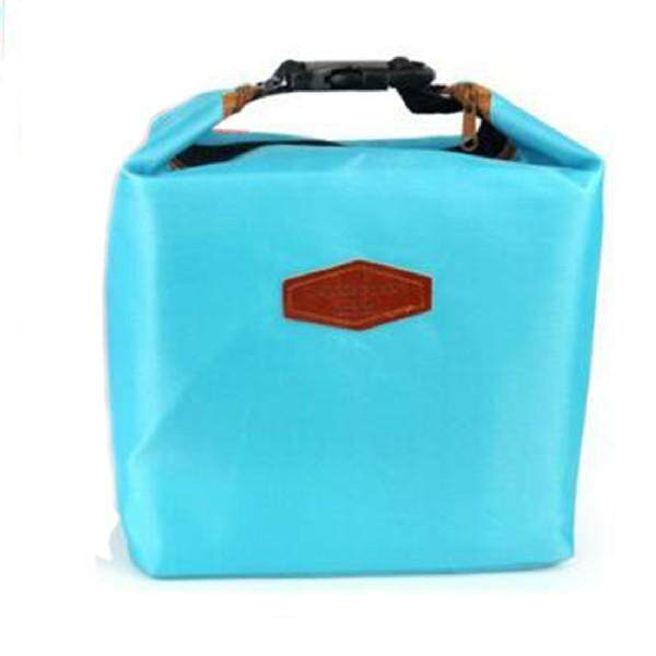 Thermal Cooler Insulated Waterproof Handbags Lunch Carry Storage Picnic Bag Pouch lunch box bag Light Blue (Intl) - intl
