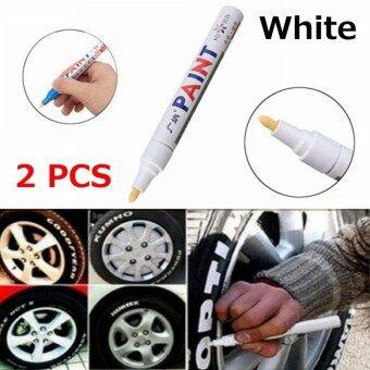 2Pcs White Universal lWaterproof Permanent Paint Marker Pen Car Tire Tyre Oil Based