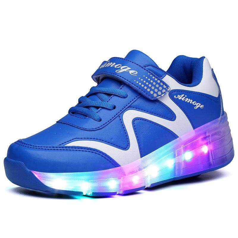(การจัดส่ง,คุณภาพดี) สีสัน LED Heelys,เงาสเก็ตสำหรับชายและหญิง
