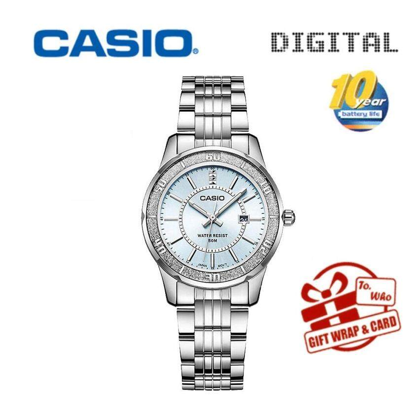 Casio LTP1358D-4A Women's Sprinkled Bezel Metal Fashion Dial Watch Imported
