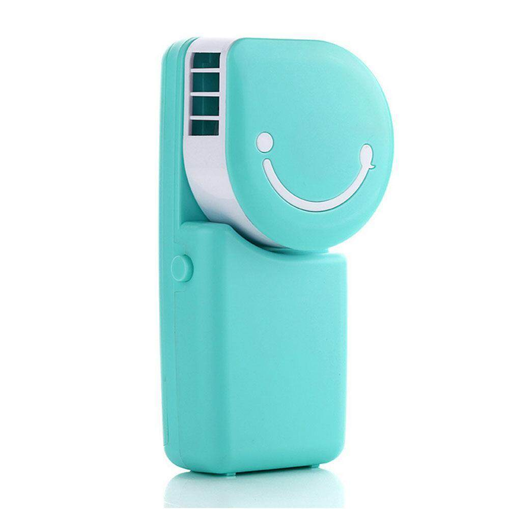 niceEshop Portable Mini Air Conditioner Fan Smile Face USB Rechargeable Cooling Fan With Lithium Battery Outdoor Travelling Handheld Fan