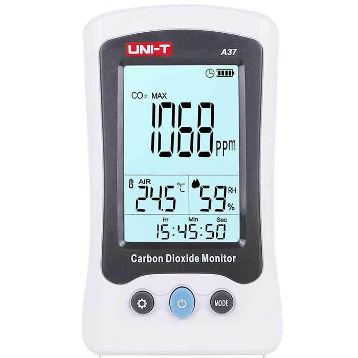 UNI-T A37 Carbon Dioxide Detector CO2 Monitor Thermometer Hygrometer Temperature Humidity Meter