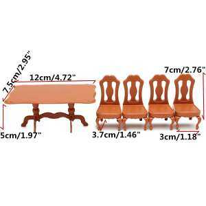 Hình ảnh Table Plastic Miniature Doll House Furniture Set Living Room Kitchen Decoration - intl