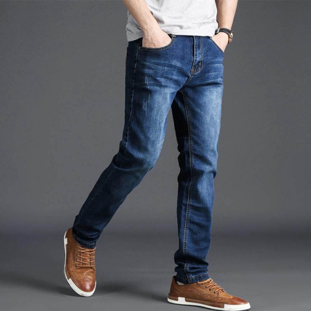 Plus Ukuran Pria Jeans Celana Ukuran Besar Jeans Longgar Kasual Ukuran 40 42 44 Tersedia Desain Bersih Jeans Menyerap Keringat Jin Semua Acara